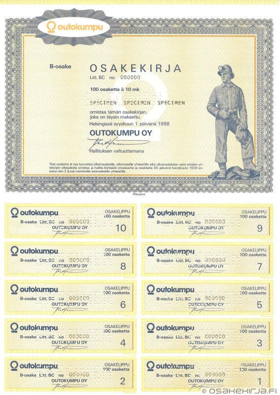Outokumpu Oy - Osakekirja.fi